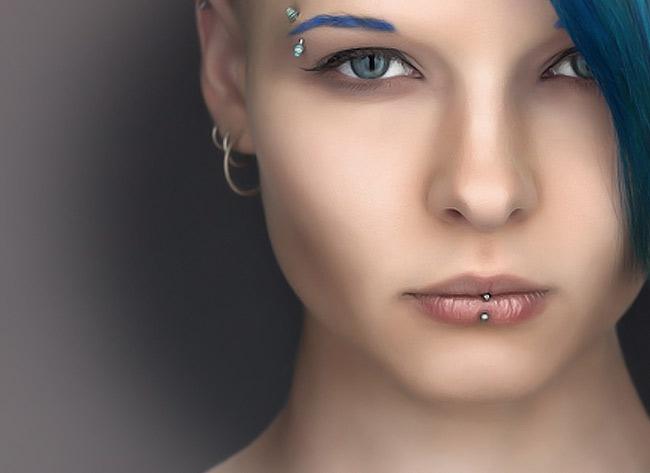 piercing neferu oświęcim